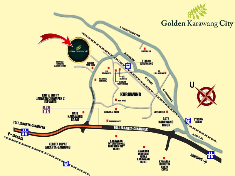 peta lokasi golden karawang city